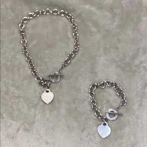 Tiffany and Company heart tag choker and bracelet